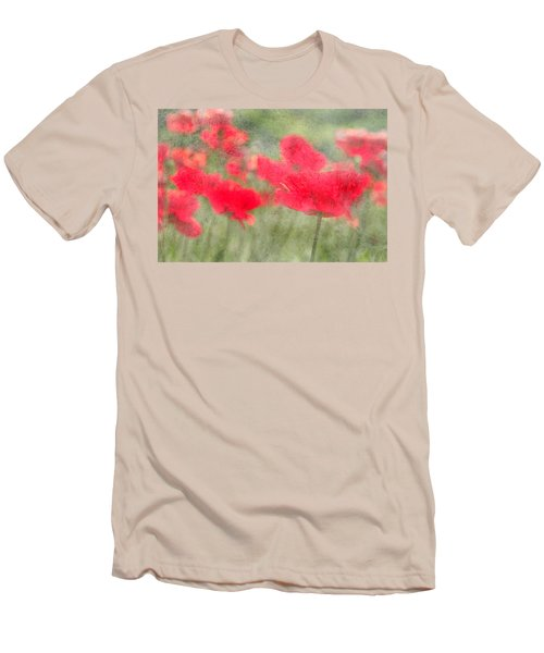 Poppies Men's T-Shirt (Slim Fit) by Catherine Alfidi