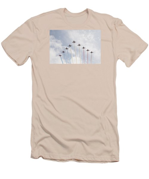 Men's T-Shirt (Slim Fit) featuring the photograph Red Arrows by Christopher Rowlands