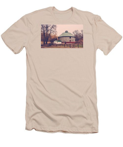 Men's T-Shirt (Slim Fit) featuring the photograph Round Barn by Dan Traun