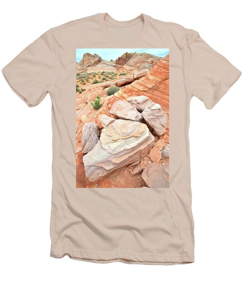 Men's T-Shirt (Slim Fit) featuring the photograph Sandstone Cove In Valley Of Fire by Ray Mathis