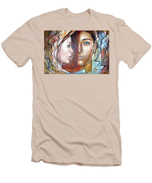 She Loves Me 140709 Men's T-Shirt (Slim Fit) by Selena Boron
