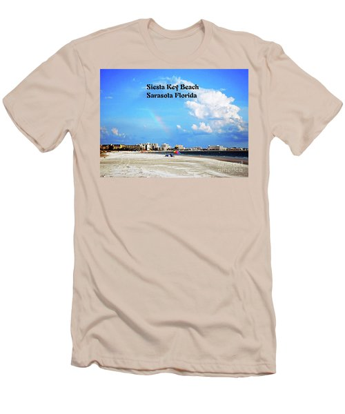 Men's T-Shirt (Slim Fit) featuring the photograph Siesta Beach by Gary Wonning