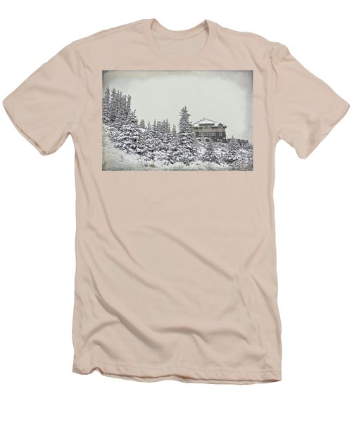 Men's T-Shirt (Slim Fit) featuring the photograph Snow In July by Teresa Zieba
