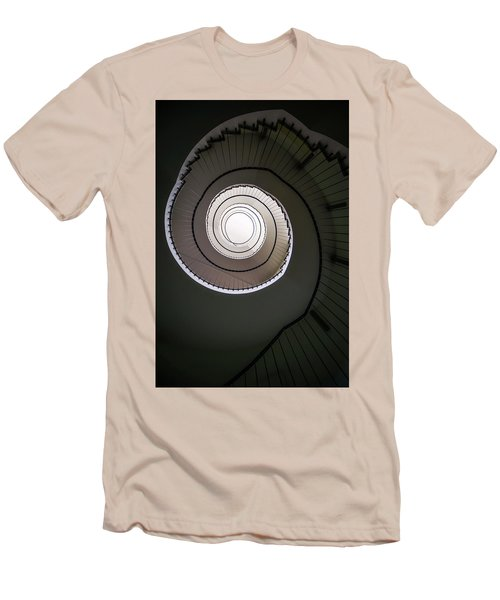 Spiral Staircase In Brown Tones Men's T-Shirt (Slim Fit) by Jaroslaw Blaminsky