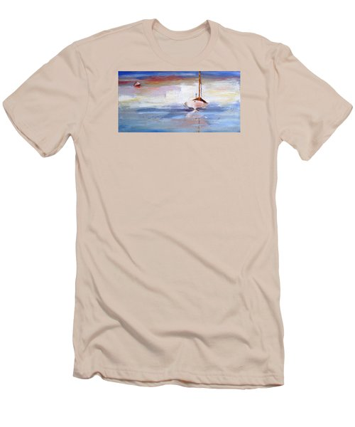 Stillness Men's T-Shirt (Slim Fit) by Trina Teele