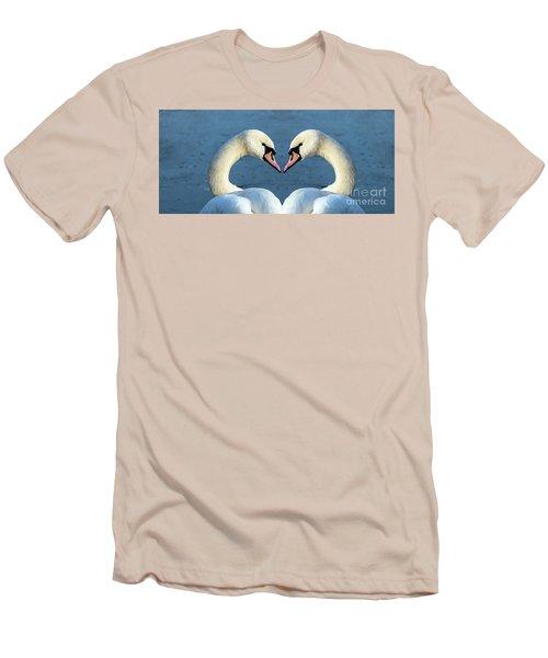 Swans Portrait Men's T-Shirt (Athletic Fit)