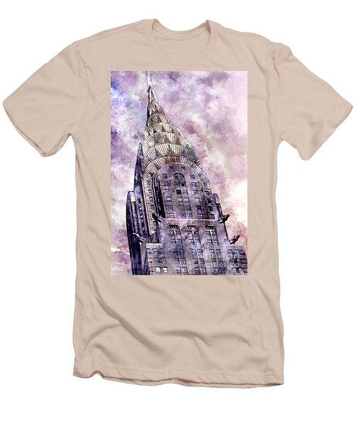 The Chrysler Building Men's T-Shirt (Slim Fit) by Jon Neidert