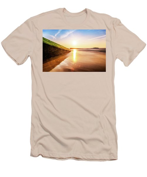 Touching The Golden Cloud Men's T-Shirt (Slim Fit) by Thierry Bouriat