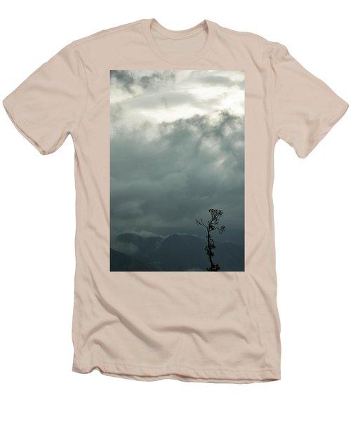 Tree And Mountain  Men's T-Shirt (Slim Fit) by Rajiv Chopra