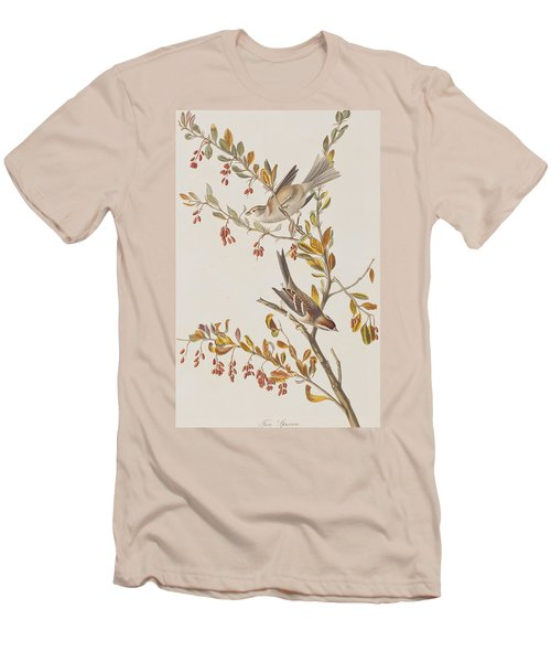 Tree Sparrow Men's T-Shirt (Slim Fit) by John James Audubon