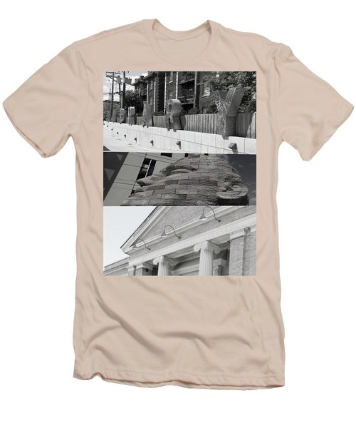Men's T-Shirt (Slim Fit) featuring the photograph Uptown Library by Susan Stone