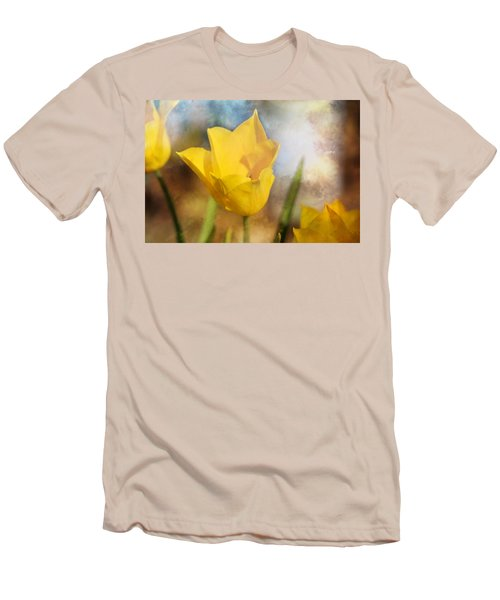 Water Lily Tulip Flower Men's T-Shirt (Athletic Fit)