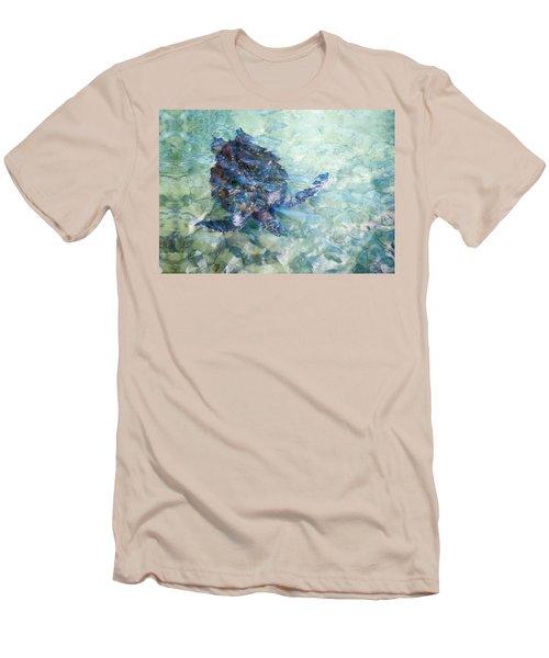 Watercolor Turtle Men's T-Shirt (Athletic Fit)