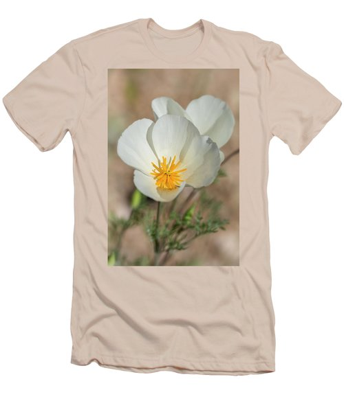 Men's T-Shirt (Slim Fit) featuring the photograph White Poppies  by Saija Lehtonen
