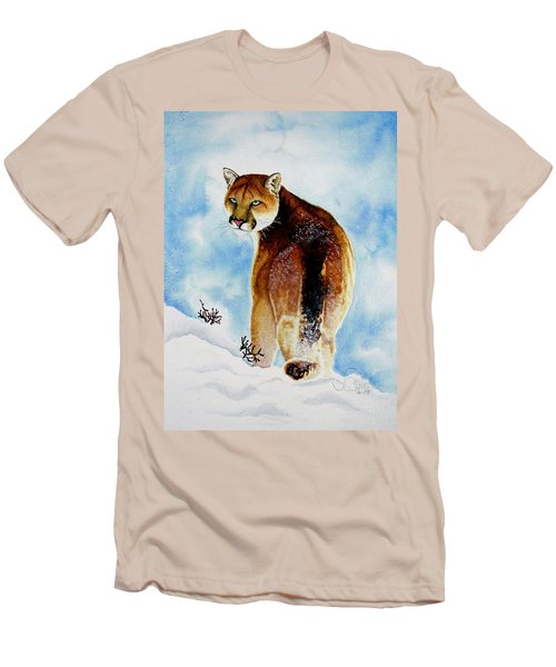 Winter Cougar Men's T-Shirt (Athletic Fit)