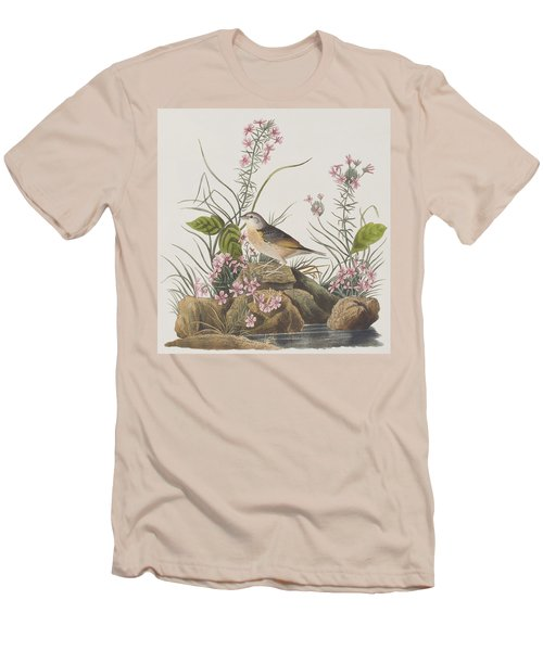 Yellow-winged Sparrow Men's T-Shirt (Slim Fit) by John James Audubon