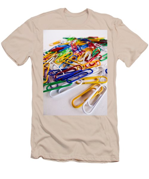 100 Paperclips Men's T-Shirt (Slim Fit) by Julia Wilcox