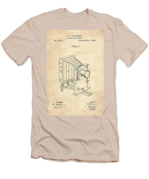 1888 Camera Us Patent Invention Drawing - Vintage Tan Men's T-Shirt (Athletic Fit)