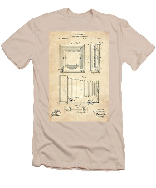 1891 Camera Us Patent Invention Drawing - Vintage Tan Men's T-Shirt (Athletic Fit)