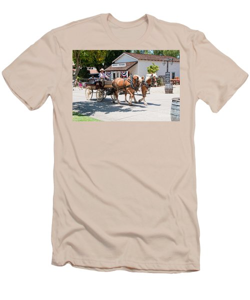 Old Town San Diego Men's T-Shirt (Slim Fit) by Carol Ailles