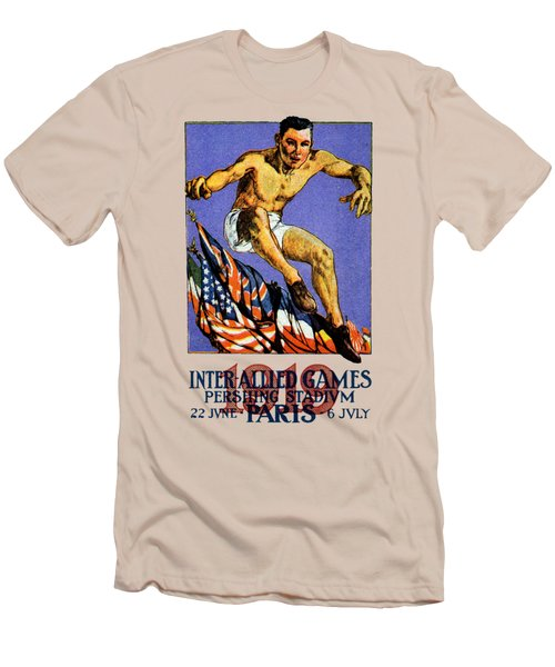 1919 Allied Games Poster Men's T-Shirt (Slim Fit) by Historic Image