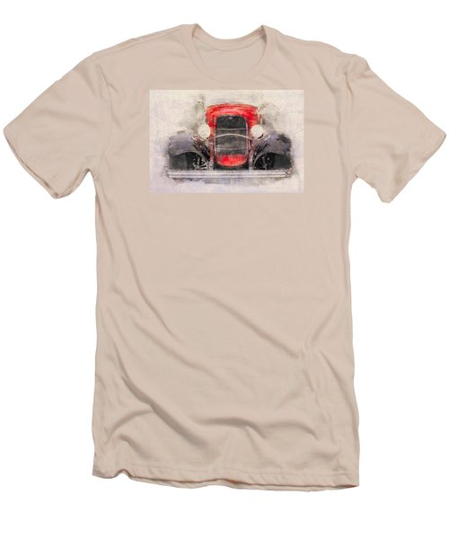 1932 Ford Roadster Red And Black Men's T-Shirt (Athletic Fit)