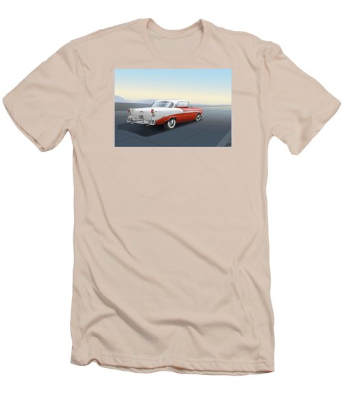 1956 Chevrolet Bel Air Men's T-Shirt (Slim Fit) by Marty Garland