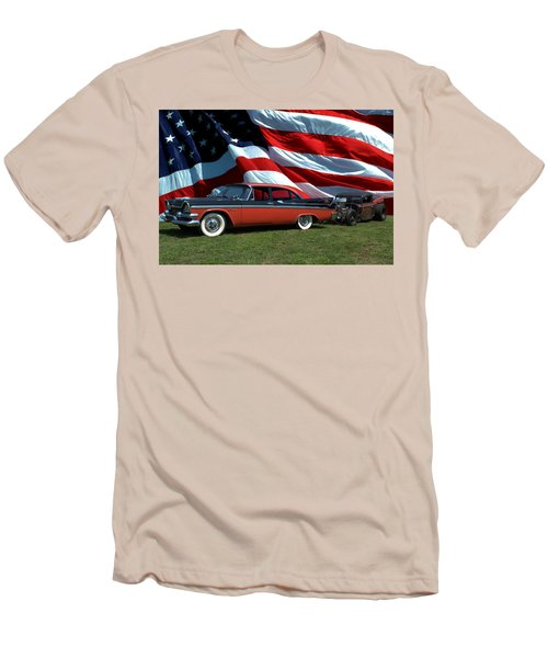 1958 Dodge Coronet And 1935 International Dragster Men's T-Shirt (Slim Fit) by Tim McCullough
