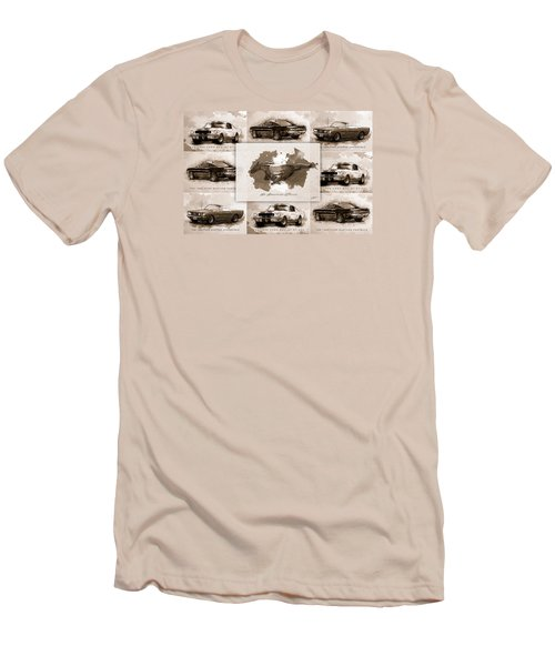 1965 Ford Mustang Collage I Men's T-Shirt (Slim Fit)