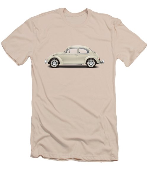 1965 Volkswagen 1200 Deluxe Sedan - Panama Beige Men's T-Shirt (Slim Fit)
