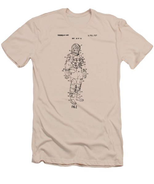 1973 Astronaut Space Suit Patent Artwork - Vintage Men's T-Shirt (Slim Fit) by Nikki Marie Smith