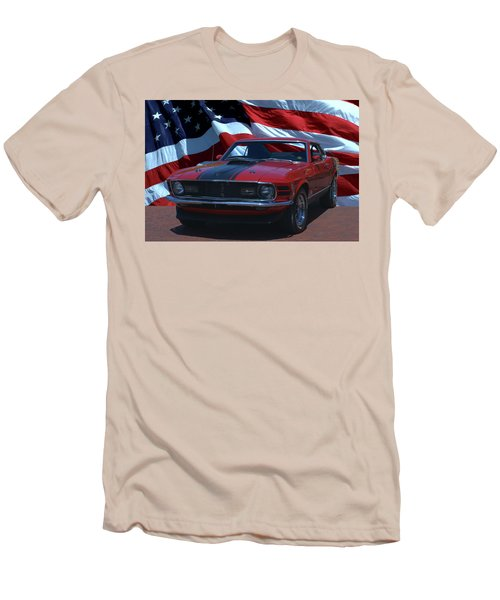1970 Mustang Mach I Men's T-Shirt (Slim Fit) by Tim McCullough