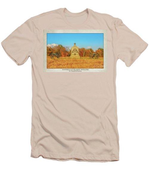 1st New York Battery D Gettysburg Poster Men's T-Shirt (Slim Fit) by Randy Steele