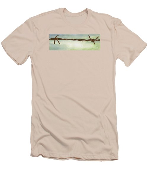 Men's T-Shirt (Slim Fit) featuring the painting Auschwitz by Annemeet Hasidi- van der Leij