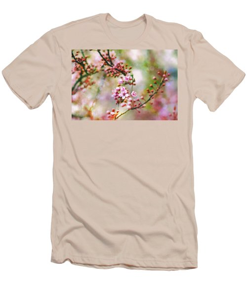 Men's T-Shirt (Slim Fit) featuring the photograph Cherry Blossoms In Spring by Peggy Collins