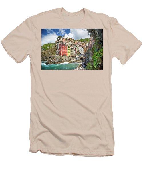 Colors Of Cinque Terre Men's T-Shirt (Slim Fit) by JR Photography