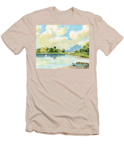 Fishing Lake Men's T-Shirt (Athletic Fit)