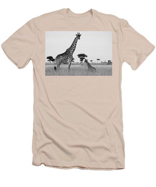 Meet My Little One Men's T-Shirt (Athletic Fit)