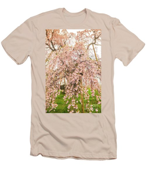 Men's T-Shirt (Athletic Fit) featuring the photograph Miharu Takizakura Weeping Cherry03 by Tatsuya Atarashi
