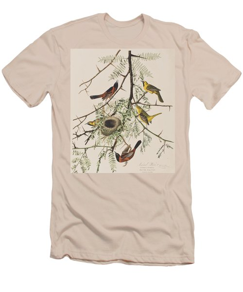 Orchard Oriole Men's T-Shirt (Slim Fit) by John James Audubon