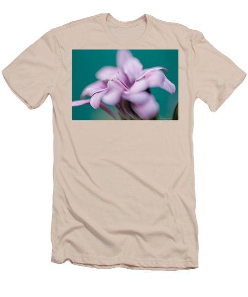 Soft Pink Men's T-Shirt (Slim Fit) by Michaela Preston