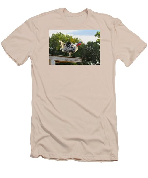Men's T-Shirt (Slim Fit) featuring the photograph Gobble Gobble by Brenda Pressnall