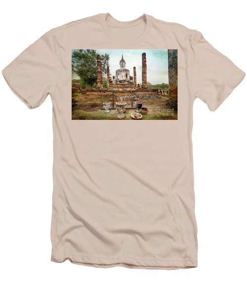Men's T-Shirt (Slim Fit) featuring the photograph Sukhothai Buddha by Adrian Evans