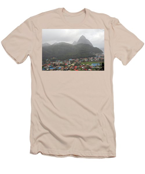 Men's T-Shirt (Athletic Fit) featuring the photograph The Pilons by Gary Wonning
