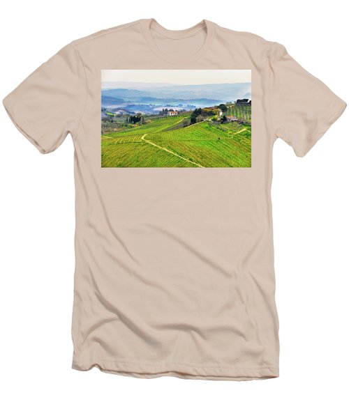 Tuscany Landscape Men's T-Shirt (Athletic Fit)