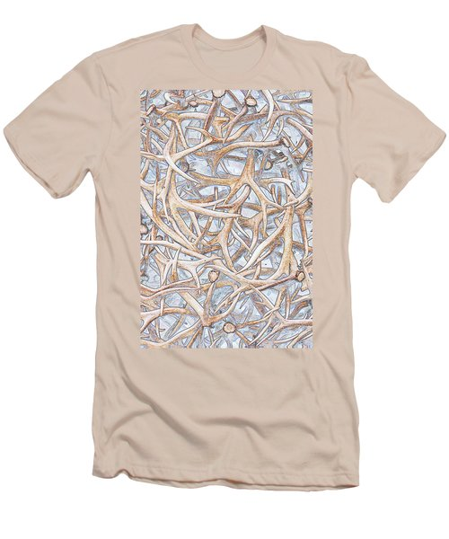 Weathered Elk Antlers Men's T-Shirt (Athletic Fit)