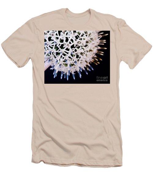 White Alium Onion Flower Men's T-Shirt (Slim Fit) by Colin Rayner