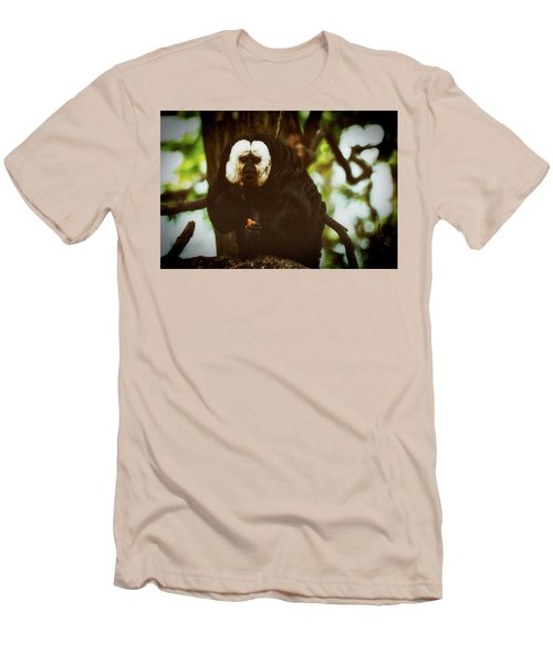 Men's T-Shirt (Slim Fit) featuring the photograph White Saki by The 3 Cats