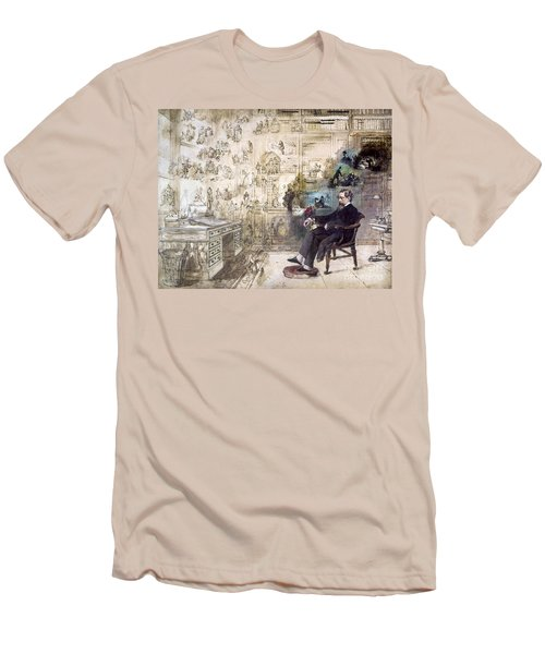 Charles Dickens 1812-1870.  To License For Professional Use Visit Granger.com Men's T-Shirt (Athletic Fit)