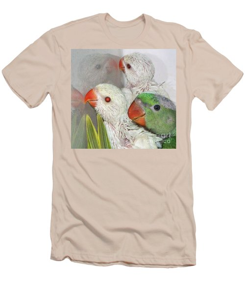 Men's T-Shirt (Slim Fit) featuring the photograph 3 Is Company 4 Is A Crowd by Debbie Stahre